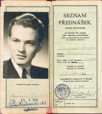 University index of Vladimír Brabec of FFUK