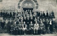 The King George of Poděbrady Central Bohemian College (Středočeská kolej krále Jiřího z Poděbrad); around 1947