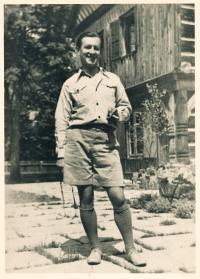 His uncle Vladimír Grégr; around 1937