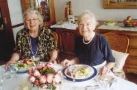 With her sister Margita in 2003