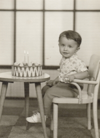 Miroslav Fleischman at the age of two years