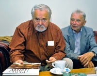Ota Ulč and Karel Pexidr at NAVA publishing house; Pilsen, 2012