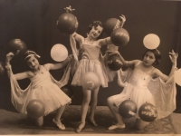 Dance performance 1936 (Livia in the middle)