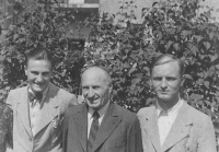 From the left his father, Milan, his grandfather, Fedinand, and his uncle, Vladimír