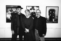 Fedor Gabčan with the photographers Jindřich Štreit and Péter Korniss, 1999
