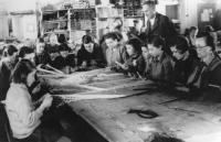 Workshop in the Slovak concentration camp in Nováky, around 1943