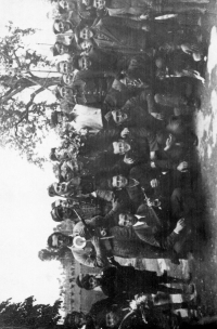 A group of soldiers of the Karol Steklý unit after the last military action in late April 1945 in Italy
