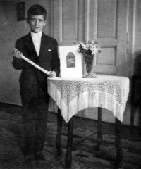 Vladimír Šiler in the first communion / probably around 1959