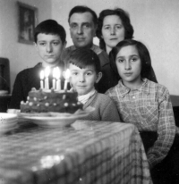 Vladimír Šiler on left at the family photo / brother Emanuel in the middle / sister Milada on the right / mother Jarmila and father Emanuel / probably in 1962