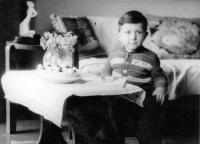Vladimír Šiler on his 4th birthday in 1954