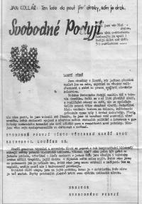 The last edition of the samoddat Svobodné Podyjí after the occupation of Czechoslovakia in 1968