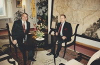 Before joining the diplomatic corps. An audience with Václav Havel, 1993