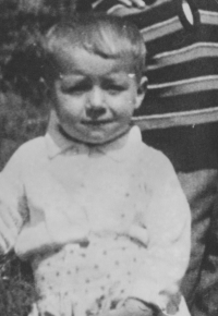 Pavel Jajtner as a child in 1950, 2 years old