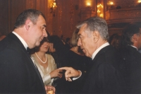 With the Mayor of Vienna, Helmut Zilk - a big friend of Czechia and a prominent Austrian politician, 1994