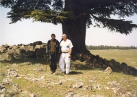 With a shepherd in the lands of cedar trees in the central High Atlas, Morrocco, 2000