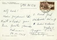 From correspondence between Karel Jech and Abdul Rahman Ghassemla, 1958