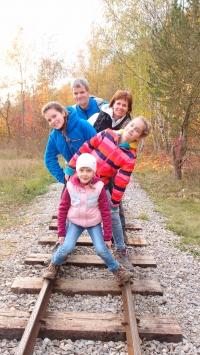 The Lachman family on a trip to the Beroun region, 2016