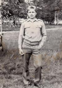 Radek Henner jako mladý major - dobová fotografie