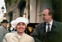 Wedding with Lea in Prague on March 28, 1992
