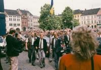 Václav Havel in Litoměřice in 1990