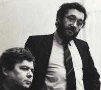 Vladimír Mišík a Zdeněk Bárta jako poslanec ČNR (foto od Dagmar Hochové)