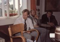 Václav Havel na chotiněveské faře, 1990