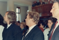 Václav Havel v Chotiněvsi, 1990