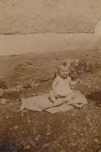 Bohumila Jindrová at the age of one year in 1936