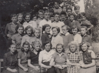 Photographs from the secondary school in Gottwaldov, 1949-1950