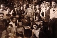 Partyzánská skupina, Hostýnské vrchy, 1945