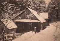 Dům Baletkových na pasekách Maruška, Hošťálková, kolem roku 1945