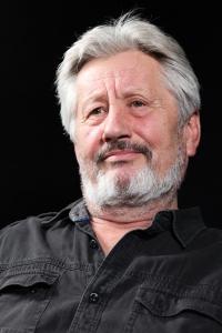Václav Bahník during recording, 2019