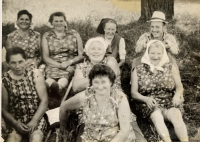 Witness Paulína Dubeňová whilst working in the field (bottom left)