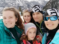 The Lachmans skiing in Austria in 2019