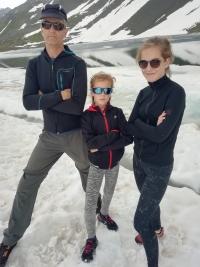Witness with his daughters in Matrix, Switzerland in 2019