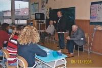Zdeněk Tuček byl aktivním členem sdružení Konfederace politických vězňů a na vlastní kůži prožitou perzekuci i příbramské lágry líčil studentům na středních školách (na fotografii první vpravo), listopad 2006