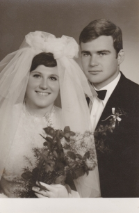 The Fürsts, the newly married couple, 1969