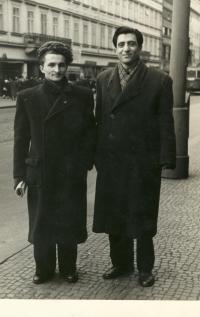 Karel Jech and Abdul Rahman Ghassemlou, Prague, beginning of 1950s