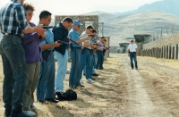 A shooting practice for mission participants in Iraq, 1996