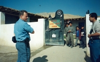 Visiting a school in Iraq, 1996 or 1997