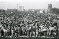 May Day manifestation through the eyes of Jiří Hrdina, Ostrava-Vítkovice, mid-1980s