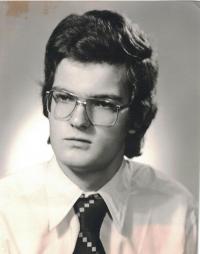 Jan Lachman as a graduant in 1977