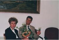 Jan Lachman at MŠMT, birthday party celebration in Prague in 2000