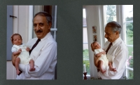 From a family album, Abdul Rahman Ghassemlou with his five-week-old grandson, Stockholm, June 1989