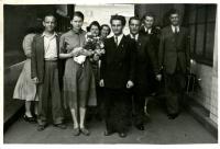 A wedding at the Iranian Embassy on behalf of Karel Jech, Prague, May 3, 1953