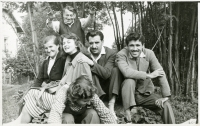 Mr and Mrs Ghassemlou with their friends in Czechoslovakia, 1960s