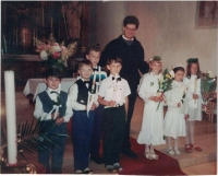 In Boršov nad Vltavou, the first holy communion in 1994