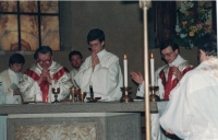 Jan´s first mass served in Rome in 1991