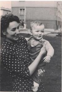 Jan with his godmother, J. Doležalová in 1963