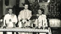 John Graubner Primary Mass (center) on June 24, 1973